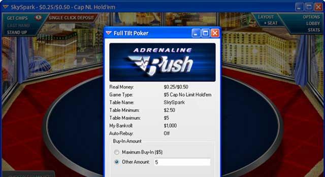 Adrenaline Rush Poker-Tische
