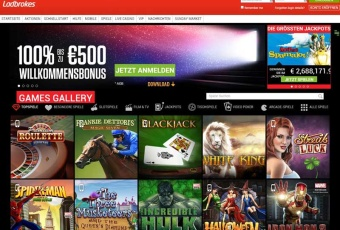 Ladbrokes Casino Webseite