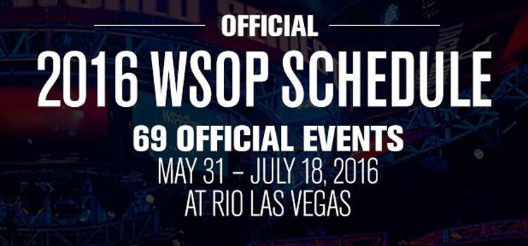 Terminplan der WSOP 2016