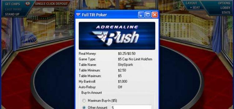 Adrenaline Rush X-treme Poker