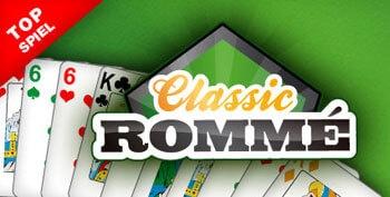 Classic Rommé wird im Spielgeld Modus oder um Echtgeld gegen zwei bis drei Mitspieler gespielt.