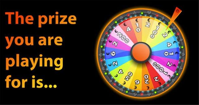 Twister Preis-Rad den Preispool eines 'Jackpot' Pools