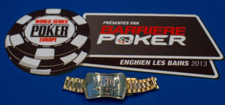 WSOPE Main Event Final Table Live Stream