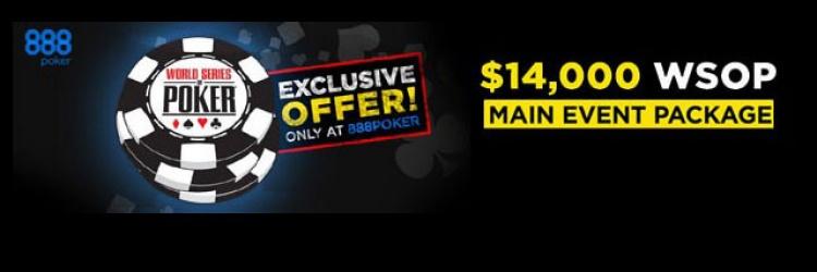 Gratis zum WSOP Main Event mit 888poker