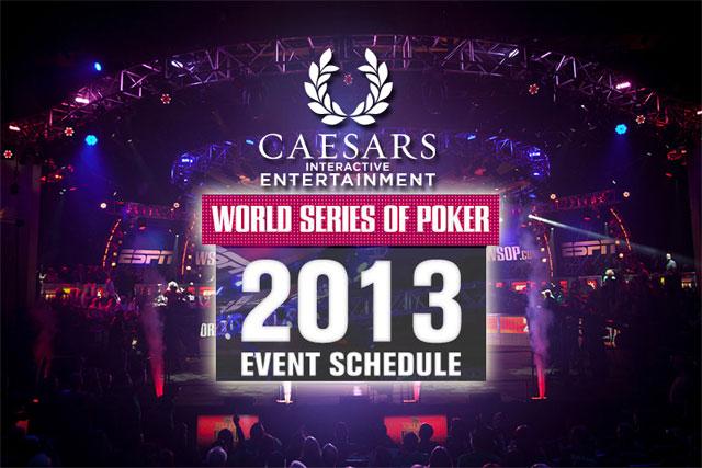 Turnierplan wsop 2013