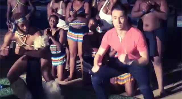 Video: Jeff Gross zelebriert traditioneller Zulu-Tanz