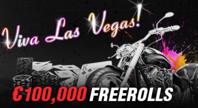 €100.000 WSOP Freerolls