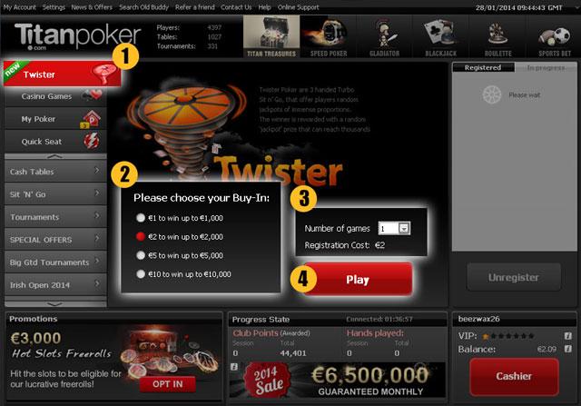 Iron Poker's Twister Sit 'N' Gos