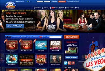 All Slots Online Casino Webseite